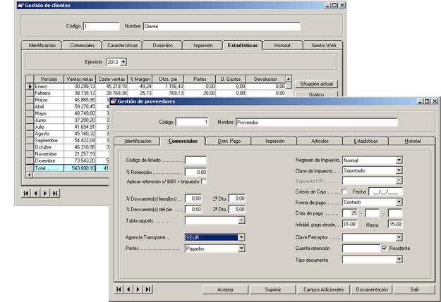 Software ERP Gextor Gestión Comercial, gestión clientes, gestión proveedores